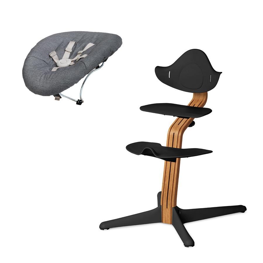 nomi by evomove Jídelní židlička s houpátkem Oil/Black