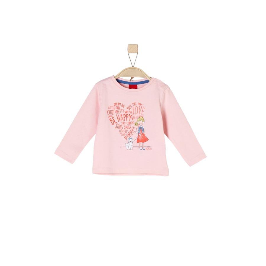 s.Oliver Girl s chemise manches longues rose melange