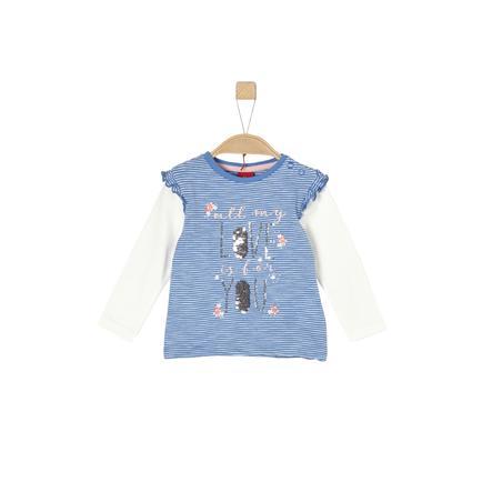s.Oliver Girl s camisa de manga larga azul medio