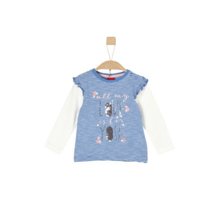 s.Oliver Girls Langarmshirt medium blue