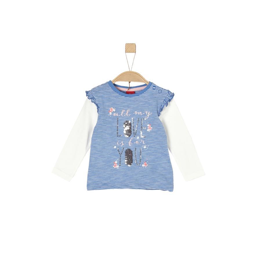 s.Oliver Långärmad tröja medium blue
