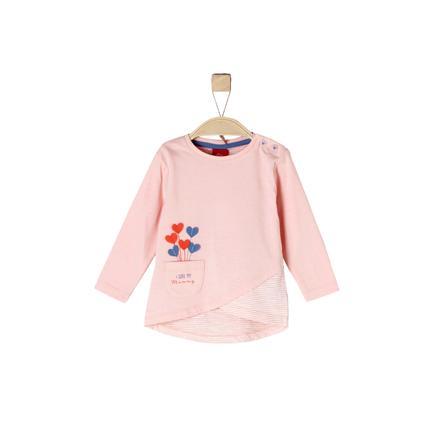 s.Oliver Gilrs koszula z długim rękawem, różowy melange