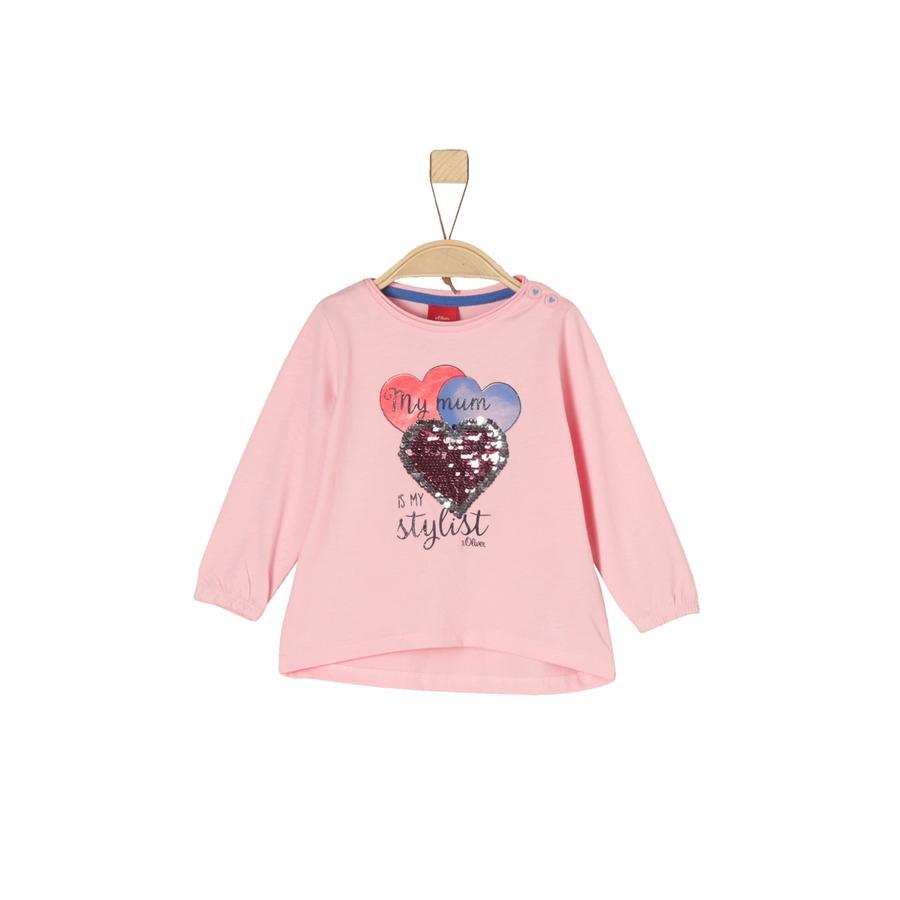 s.Oliver Girls Langarmshirt rosy melange