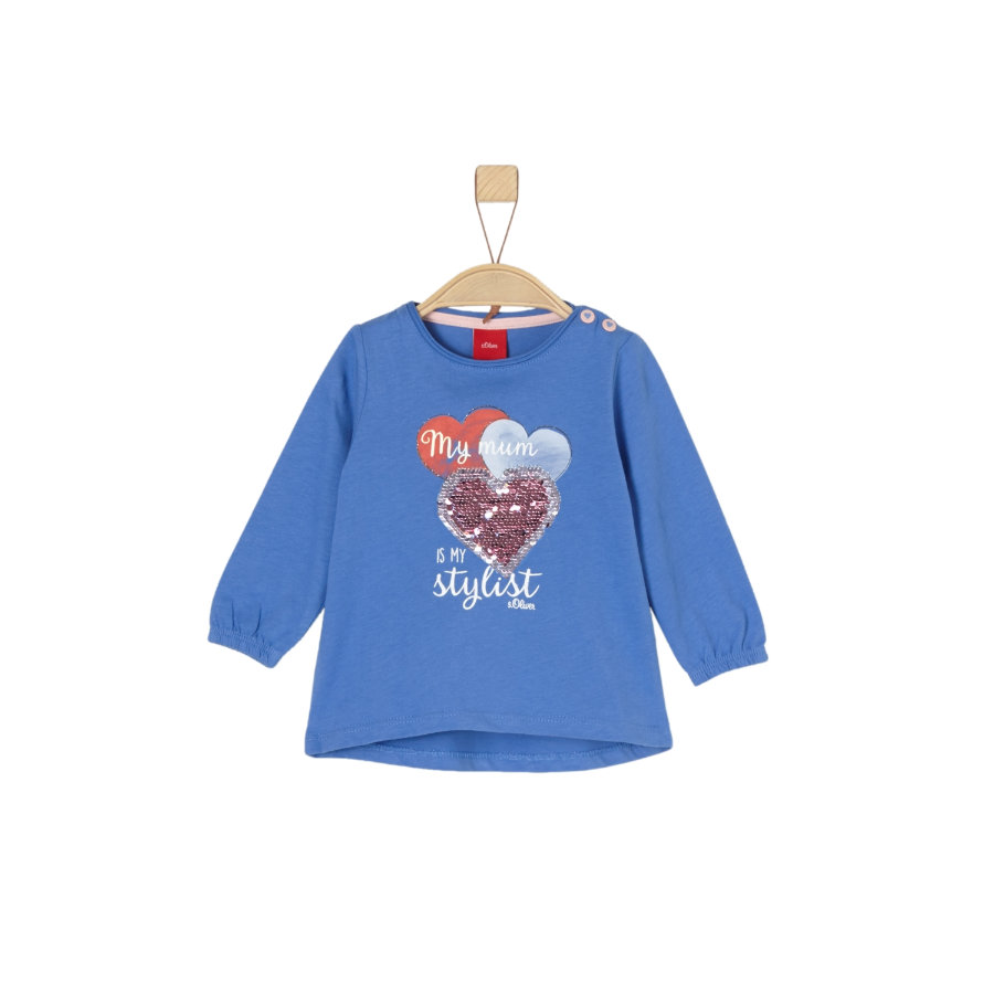 s.Oliver Girls Langarmshirt blue