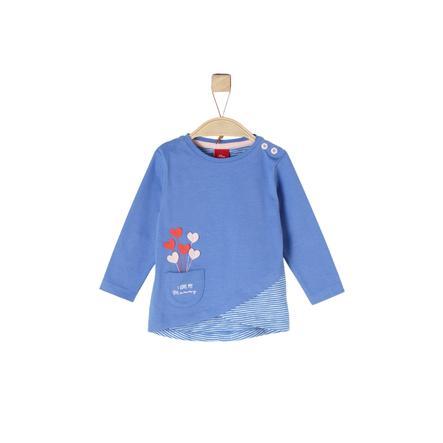 s. Olive r Girls Košile s dlouhým rukávem modrá