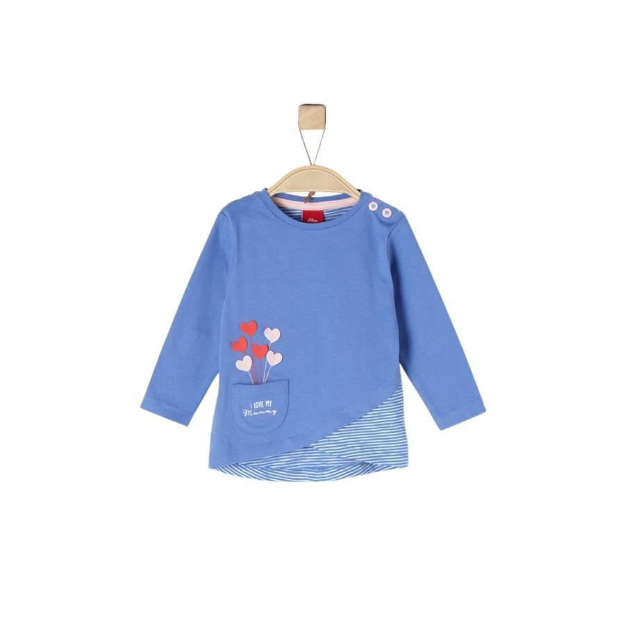 s.Oliver Girl koszula z długim rękawem, niebieska.