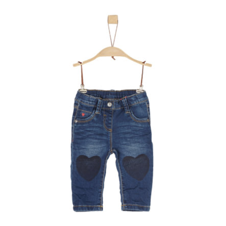 s.Oliver Girl pantaloni s denim blu scuro denim