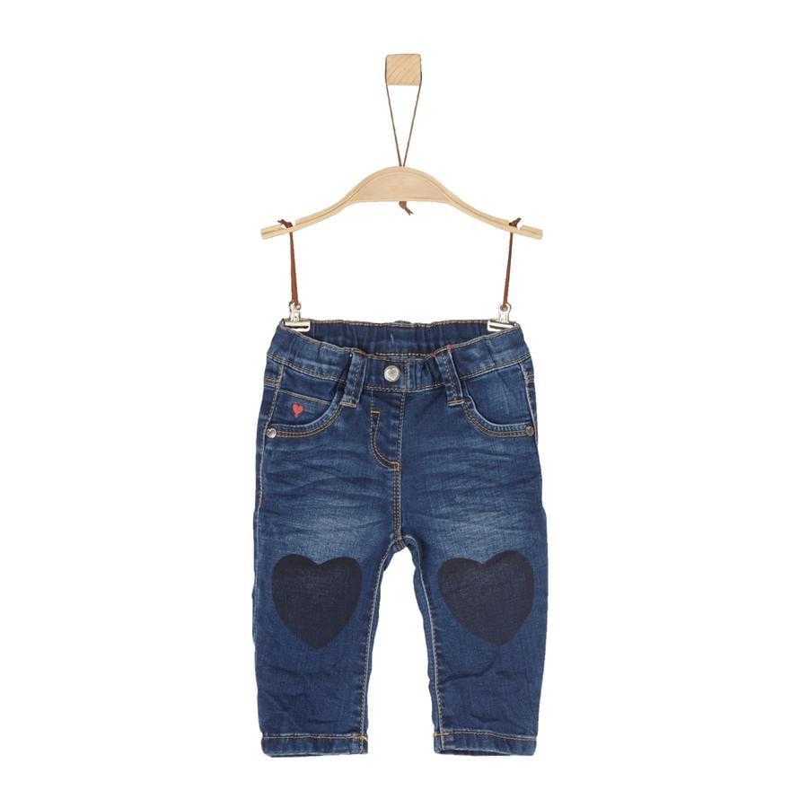 s.Oliver Girl pantalon s denim bleu foncé