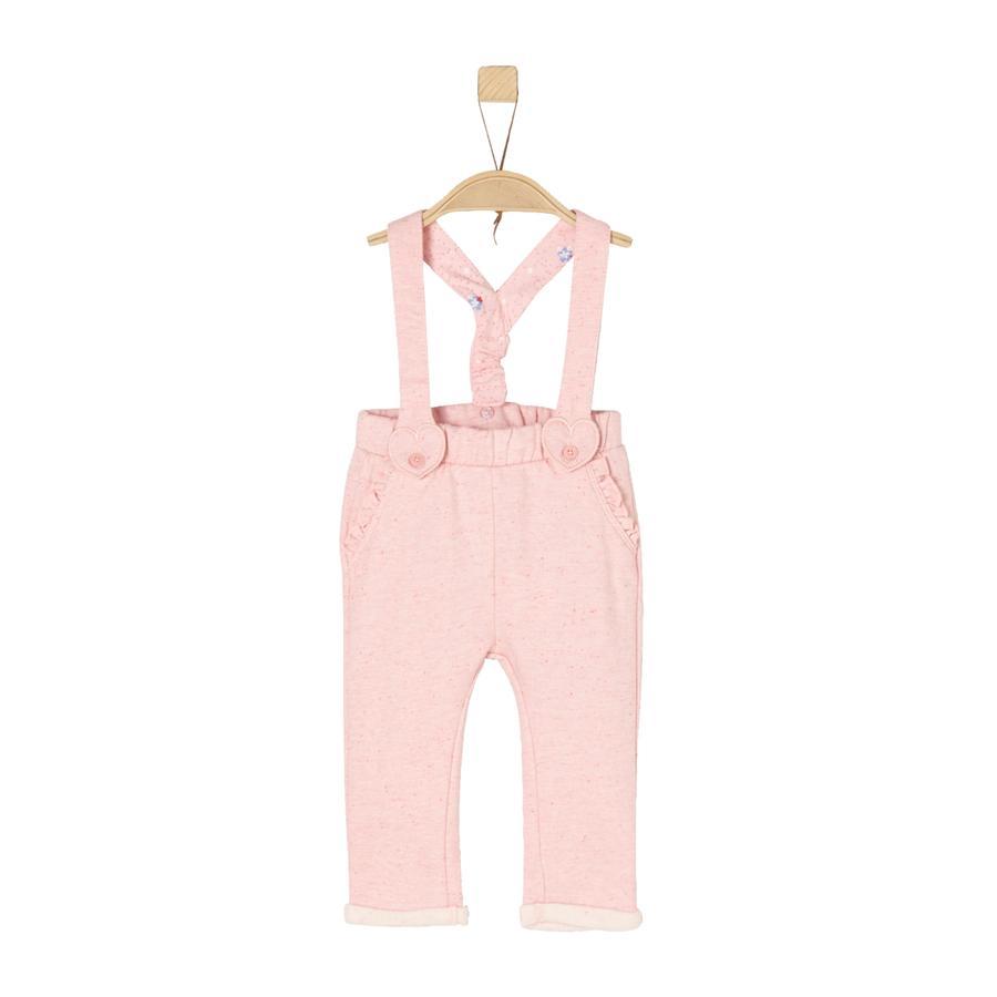 s.Oliver Girl s Pantalones de chándal con tirantes de color de rosa mélange