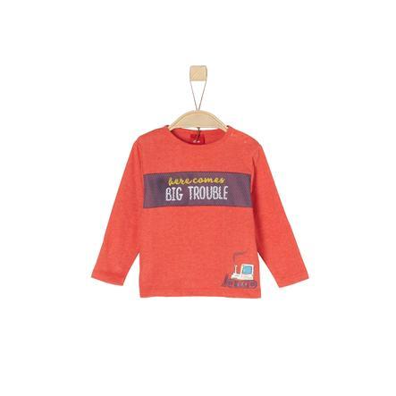 s.Oliver Boys Camisa de manga larga roja mélange