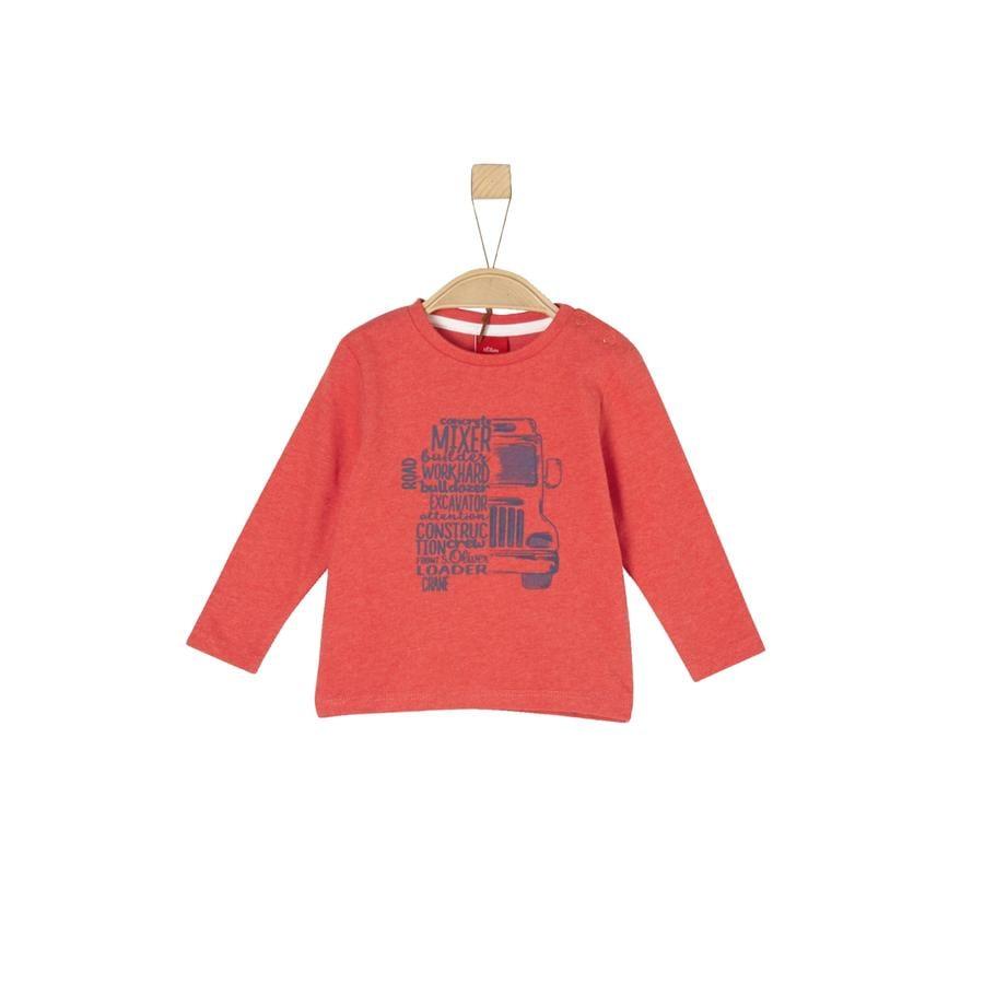 s. Oliver Poikien pitkähihainen paita punainen melange