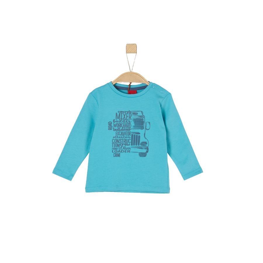 s.Oliver Boys Shirt met lange mouwen turquoise