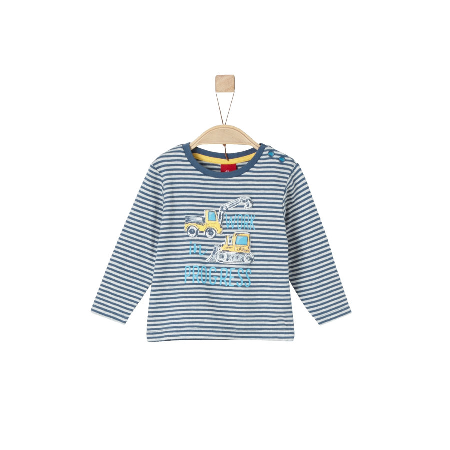 s.Oliver Långärmad tröja medium blue stripes