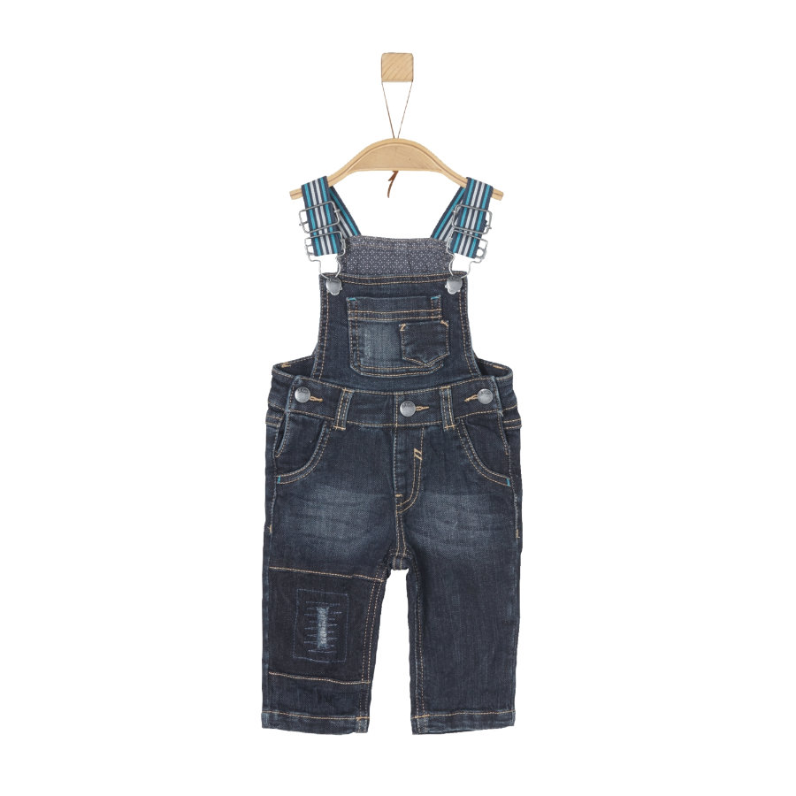 s.Oliver Boys Latzhose dark blue denim