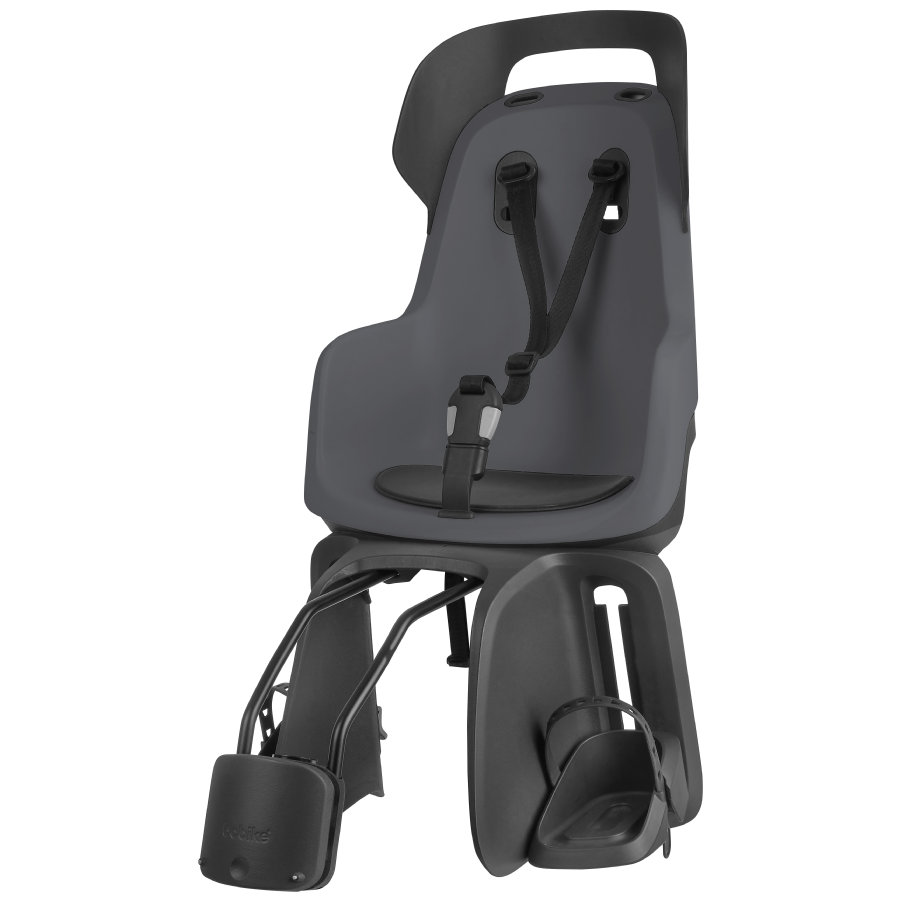 bobike Fahrrad Kindersitz GO mit 1P - Bügel Macaron Grey