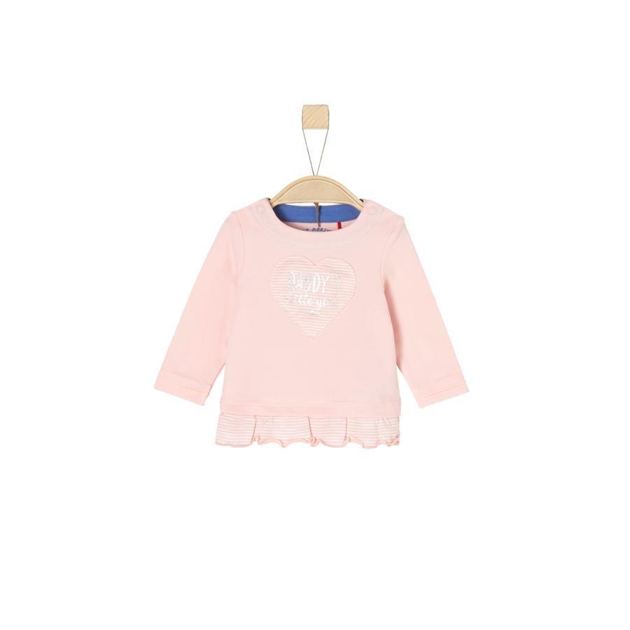 s.Oliver Girl koszula z długim rękawem, różowa melanżowa.