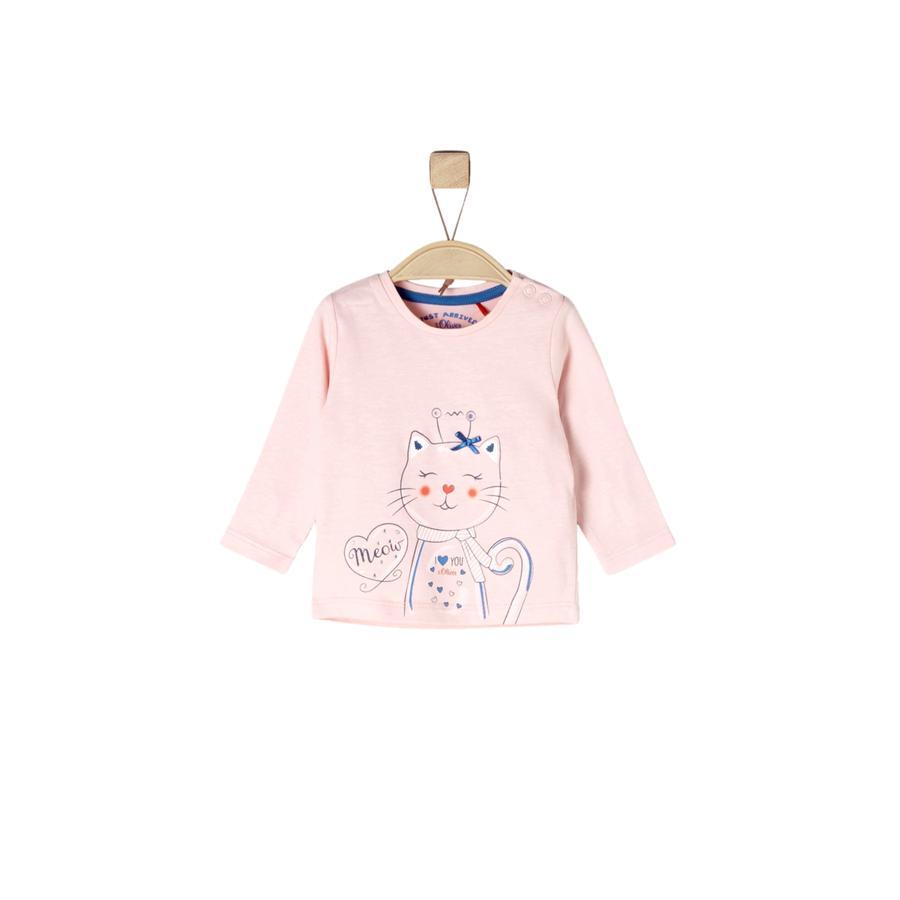 s. Olive r Girls Košile s dlouhým rukávem pink melange