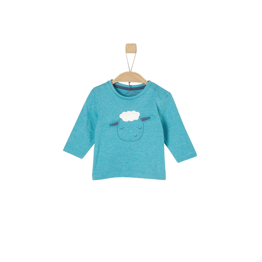 s.Oliver Boys Camisa manga larga turquesa