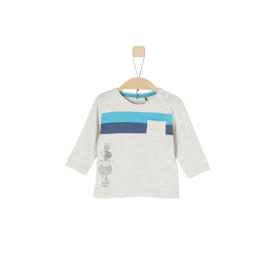 s.Oliver Boys Shirt met lange mouwen ecru melange
