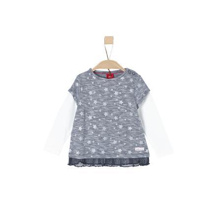 s.Oliver Girl s shirt met lange mouwen middernacht blauw