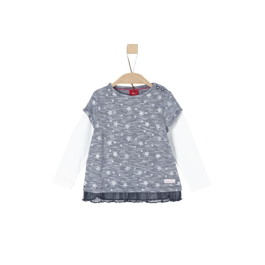s.Oliver Girl chemise à manches longues bleu nuit de minuit