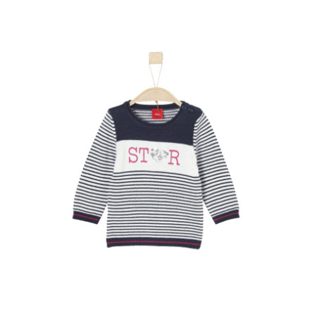 s.Oliver Girls Pullover dark blue stripes