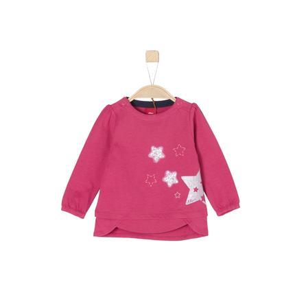 s.Oliver Girl s shirt met lange mouwen donkerroze