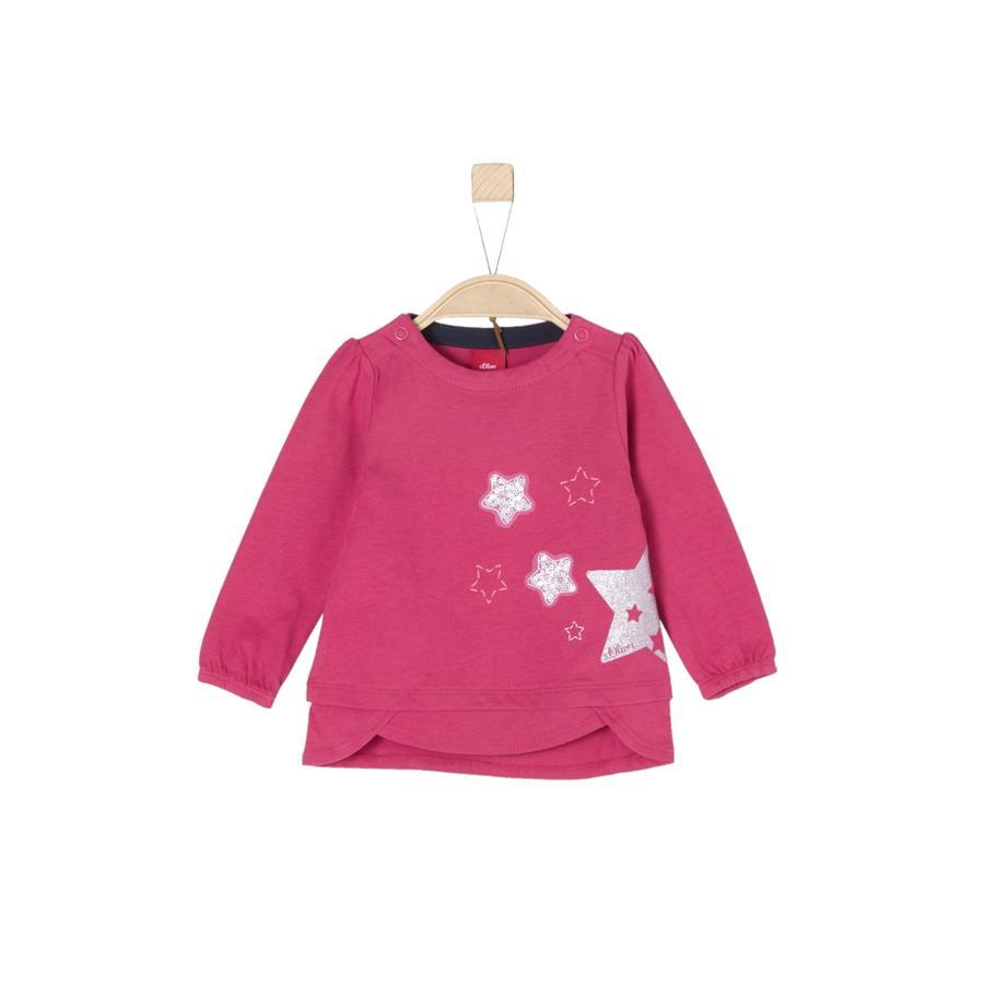 s. Olive r Girls Košile s dlouhým rukávem tmavě růžová