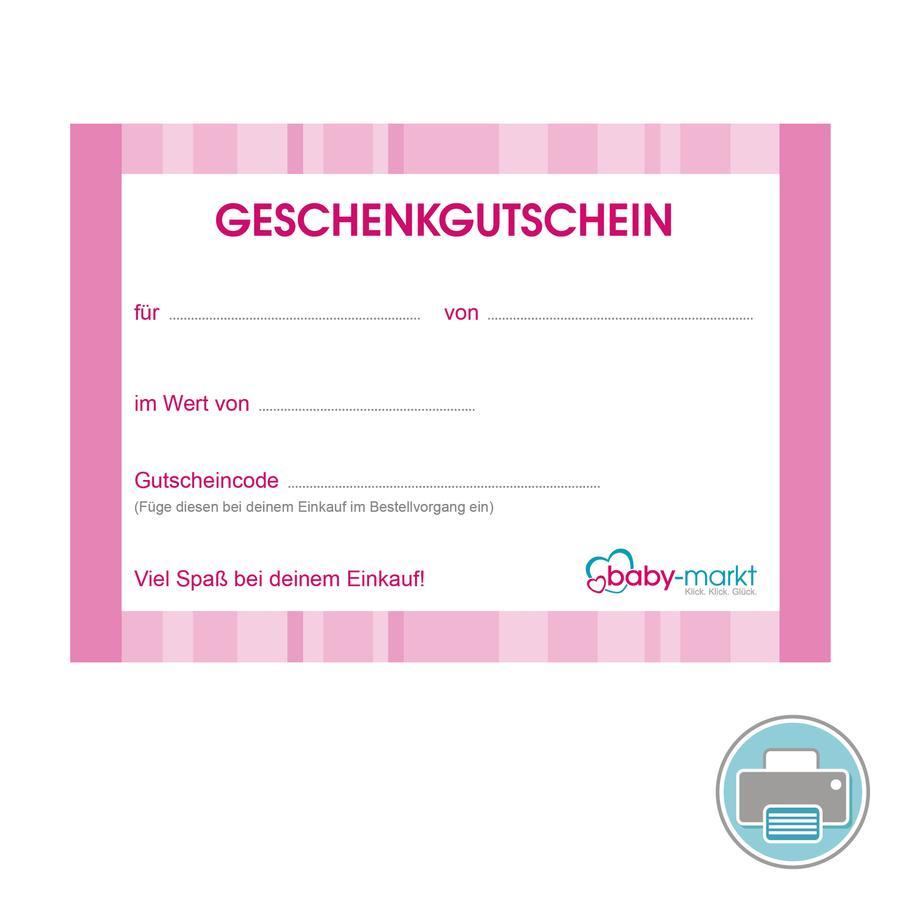 Gutscheine zum Ausdrucken MÄDCHEN rosa   baby markt.ch