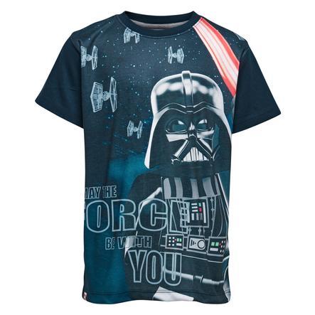 LEGO wear T-shirt enfant Star Wars Dark Vador bleu marine