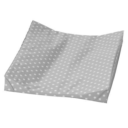 Alvi Přebalovací podložka dvouklínová Klínová podložka stars stříbrná 68 x 60 cm