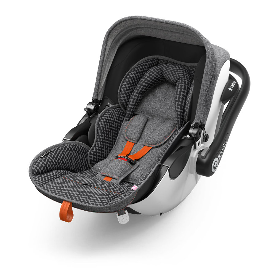 Kiddy Silla portabebés Evoluna i-Size 1 con Isofix Base 2 Heritage Collection Retro Charcoal