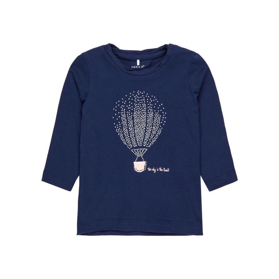 name it Girl s Camisa de manga larga Nbfgilse vestido azul