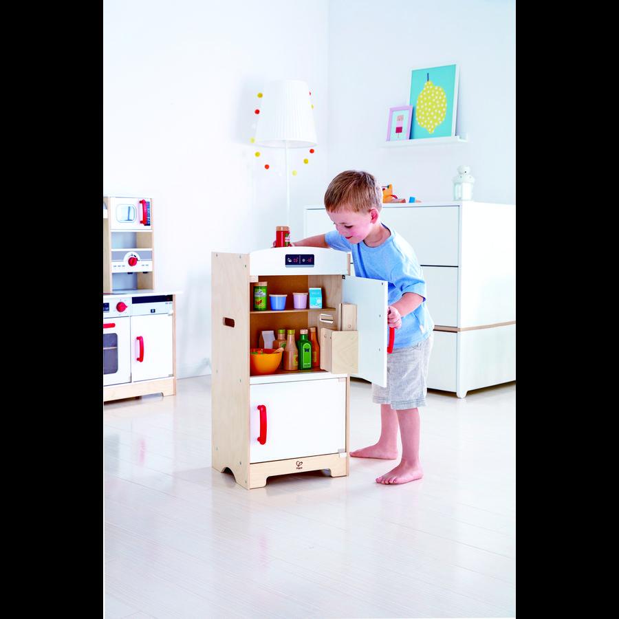 Hape jääkaappi pakastinlokerolla, valkoinen