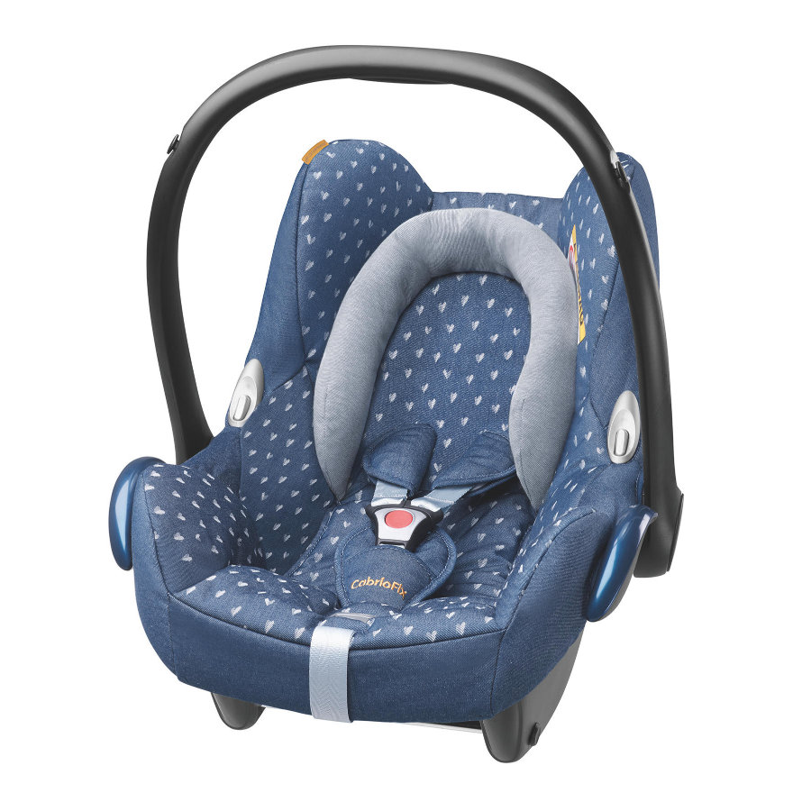 maxi cosi babyschale cabriofix denim hearts limited edition. Black Bedroom Furniture Sets. Home Design Ideas