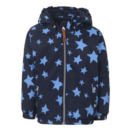 TICKET TO HEAVEN Jakke Maxi med aftagelig hætte, blå med stjerner
