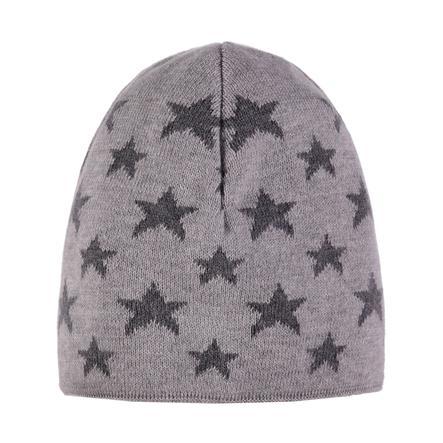 TICKET TO HEAVEN  Pletená čepice, šedá s hvězdami