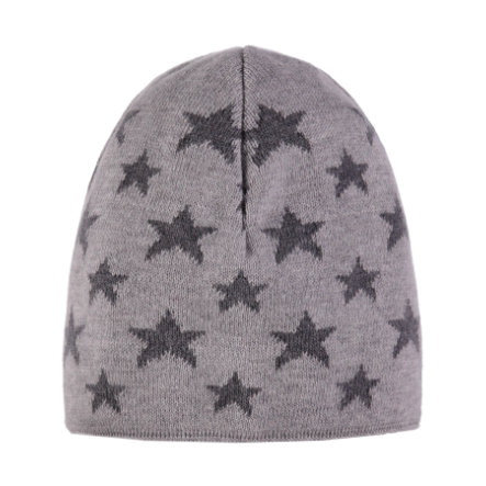 TICKET TO HEAVEN Bonnet tricoté, gris avec étoiles