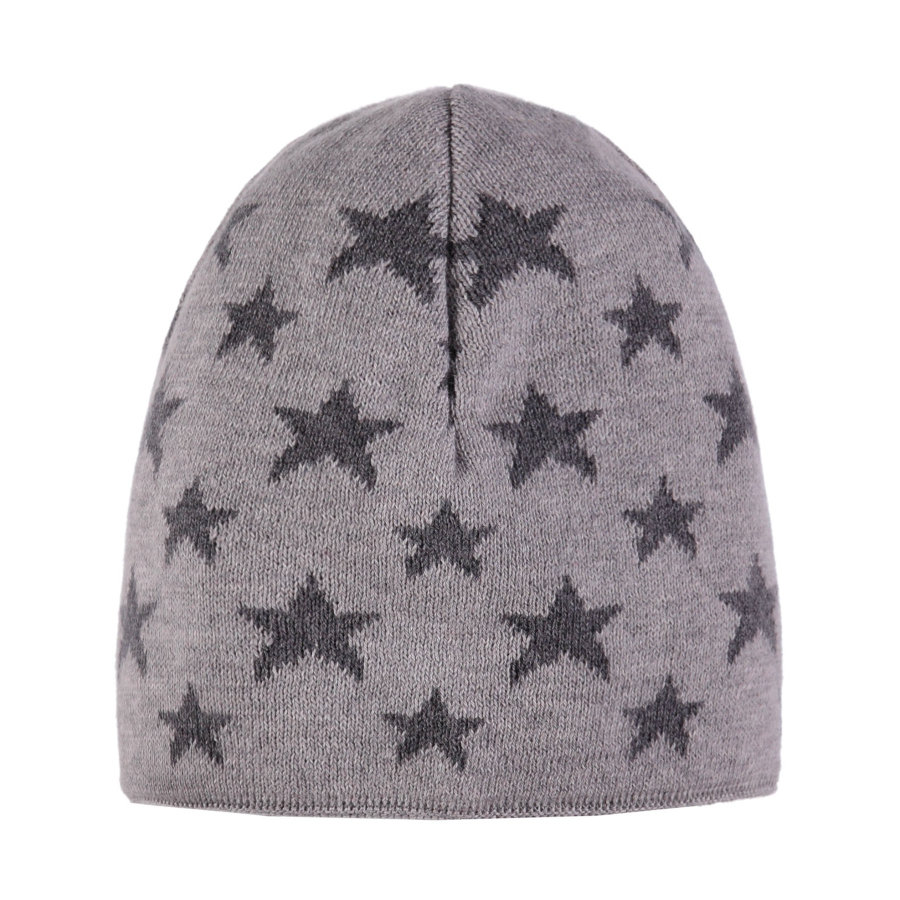 TICKET TO HEAVEN Gorro de punto, gris con estrellas