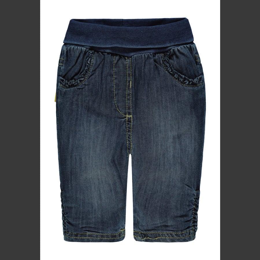Steiff Girls Jeans, dark blue denim