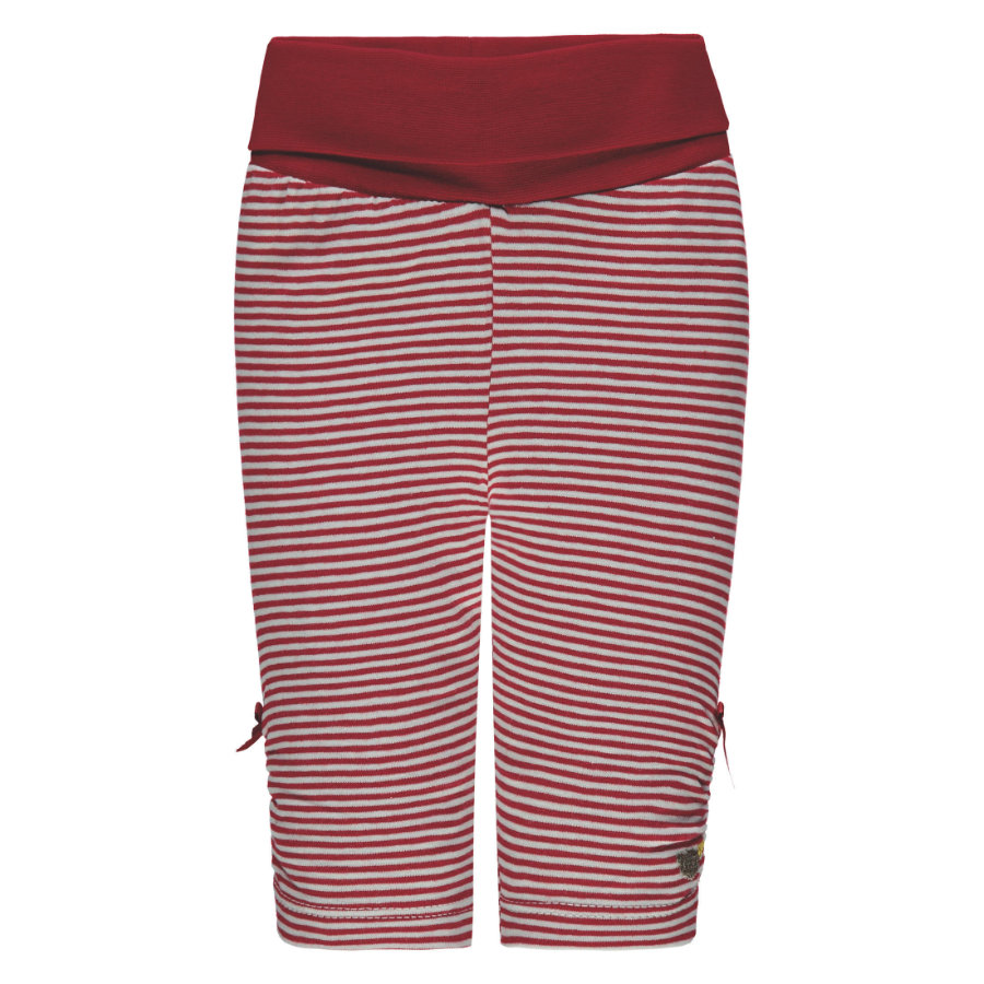 Steiff Girls Leggings, rot gestreift
