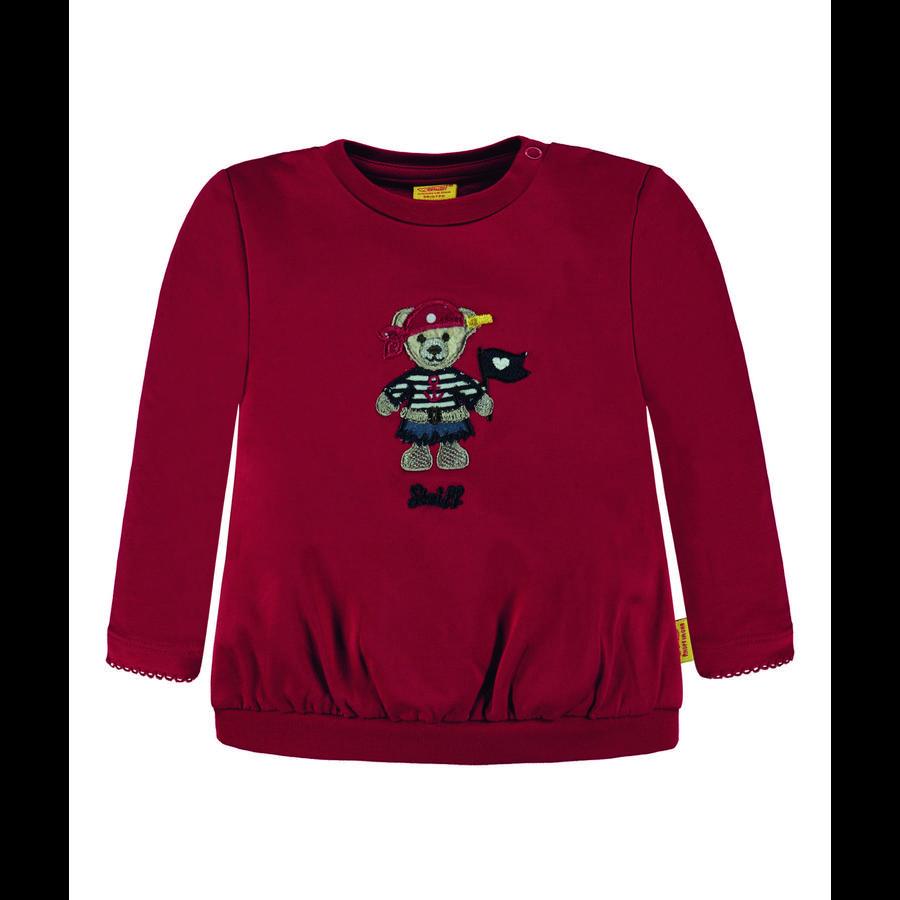 Steiff Girls Sweatshirt, rot mit Piratin