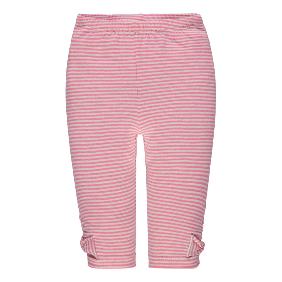 Steiff Girls Leggings, rosa gestreift