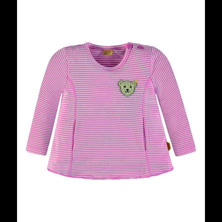 Steiff Girl s Camisa de manga larga, con rayas rosas