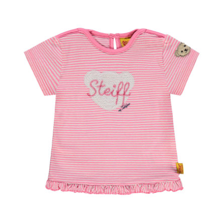 Steiff Girl s Overhemd met lange mouwen, roze gestreept