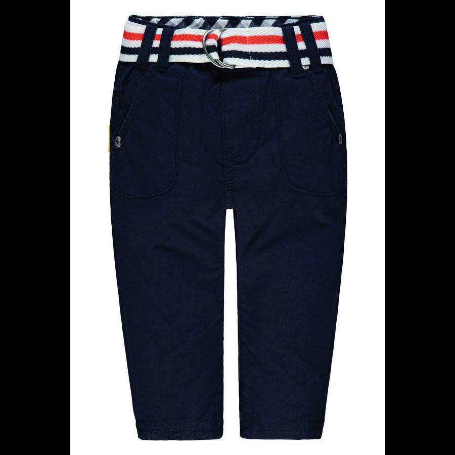 Steiff Boys Spodnie z paskiem, marynarka wojenna.