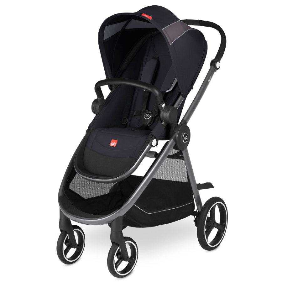 gb GOLD Kinderwagen Beli 4 Satin Black-black