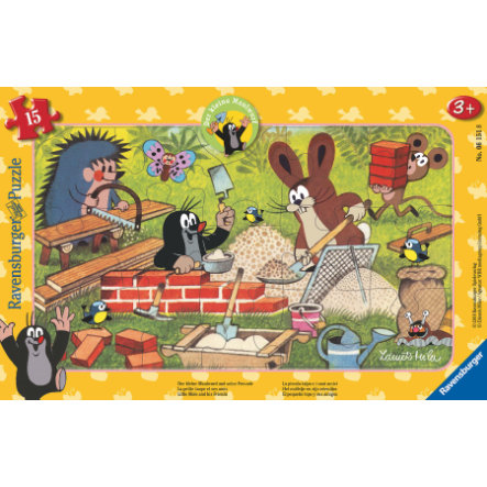 Ravensburger Frame puzzle - Kret: kret i przyjaciele, 15 sztuk