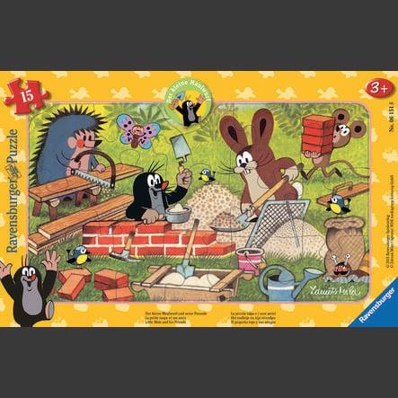 Ravensburger Frame puzzle - Krtek: krtek a přátelé, 15 kusů
