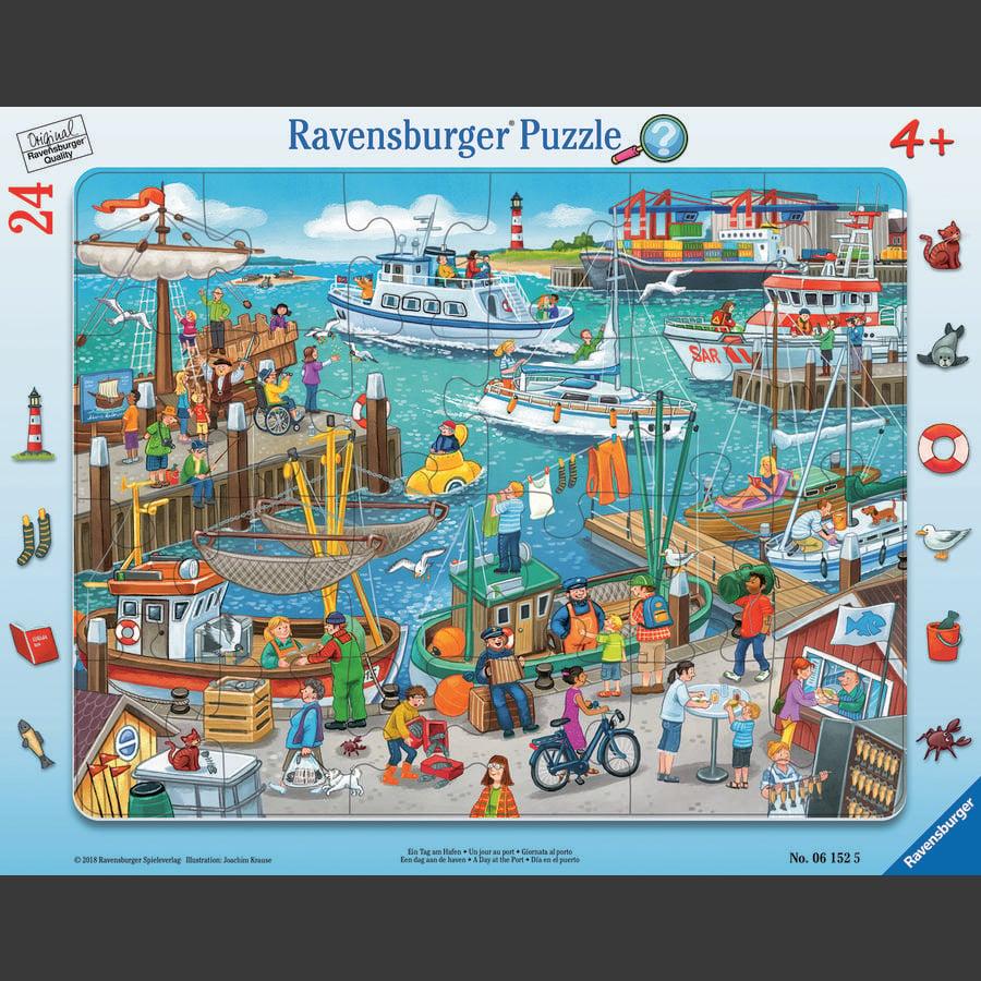Ravensburger Rahmenpuzzle - Ein Tag am Hafen, 24 Teile - babymarkt.de